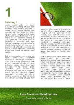 Tennis Rackets Word Template, First Inner Page, 00807, Sports — PoweredTemplate.com