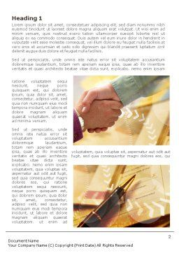 Signing Agreement Word Template, First Inner Page, 00925, Business — PoweredTemplate.com