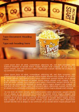 Popcorn Word Template Cover Page