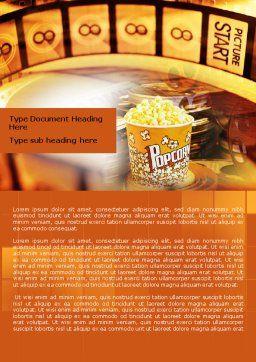Popcorn Word Template, Cover Page, 00962, Art & Entertainment — PoweredTemplate.com