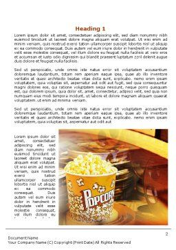 Popcorn Word Template, First Inner Page, 00962, Art & Entertainment — PoweredTemplate.com