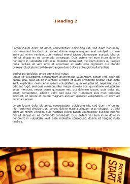 Popcorn Word Template, Second Inner Page, 00962, Art & Entertainment — PoweredTemplate.com