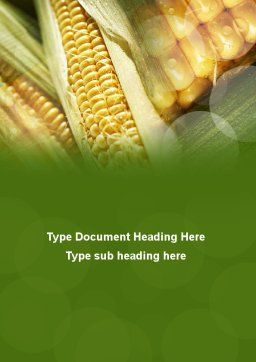 Maize Word Template Cover Page