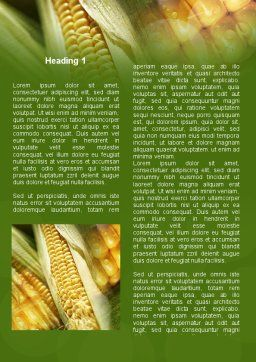 Maize Word Template, First Inner Page, 00973, Agriculture and Animals — PoweredTemplate.com