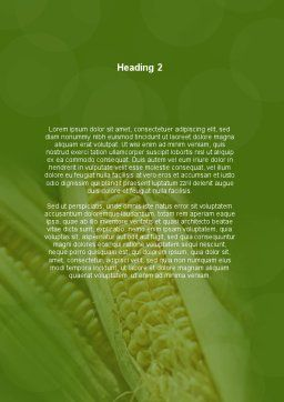 Maize Word Template, Second Inner Page, 00973, Agriculture and Animals — PoweredTemplate.com