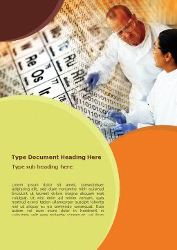 Chemical Research Word Template, Cover Page, 01028, Technology, Science & Computers — PoweredTemplate.com