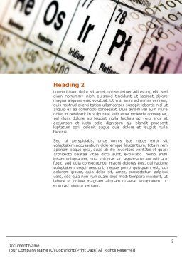 Chemical Research Word Template, Second Inner Page, 01028, Technology, Science & Computers — PoweredTemplate.com