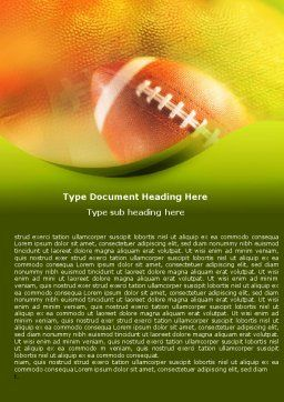 Ball Lacing Word Template, Cover Page, 01254, Sports — PoweredTemplate.com