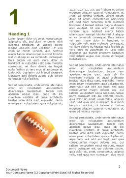 Ball Lacing Word Template, First Inner Page, 01254, Sports — PoweredTemplate.com