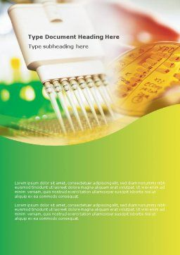 Lab Testing Word Template, Cover Page, 01255, Technology, Science & Computers — PoweredTemplate.com