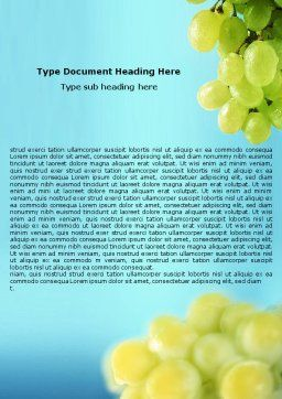 White Grape Word Template, Cover Page, 01281, Food & Beverage — PoweredTemplate.com