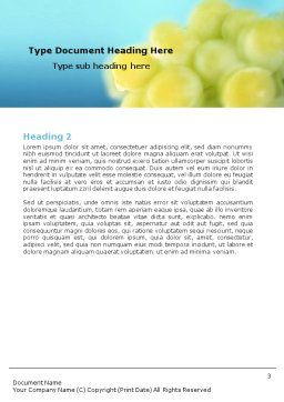 White Grape Word Template Second Inner Page