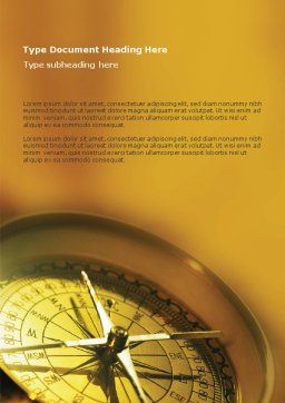 Compass Word Template Cover Page