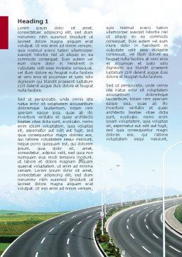 Highway Under Blue Sky Word Template, First Inner Page, 01358, Construction — PoweredTemplate.com