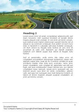 Highway Under Blue Sky Word Template, Second Inner Page, 01358, Construction — PoweredTemplate.com