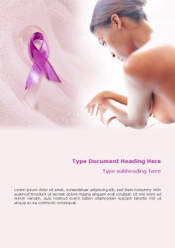 Breast Cancer Word Template, Cover Page, 01459, Medical — PoweredTemplate.com