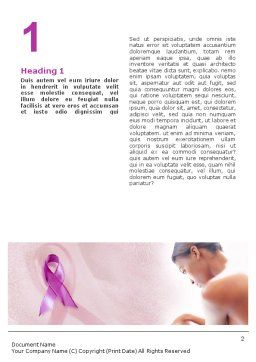 Breast Cancer Word Template First Inner Page