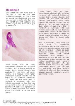 Breast Cancer Word Template Second Inner Page