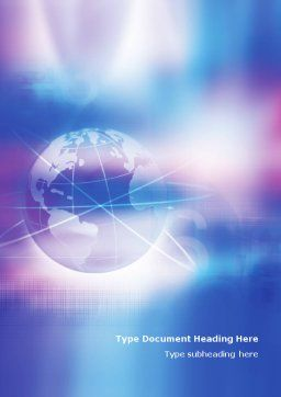 Blue Earth Abstract Word Template Cover Page