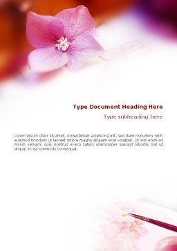 Flower Painting Word Template Cover Page