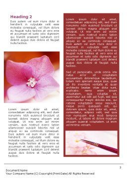 Flower Painting Word Template Second Inner Page