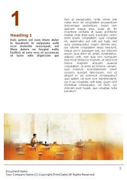 Corporate Life Word Template, First Inner Page, 01544, Business — PoweredTemplate.com