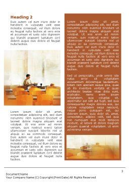 Corporate Life Word Template, Second Inner Page, 01544, Business — PoweredTemplate.com