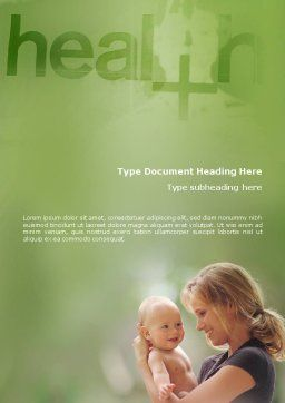 Health Word Template, Cover Page, 01545, Medical — PoweredTemplate.com