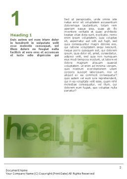 Health Word Template, First Inner Page, 01545, Medical — PoweredTemplate.com