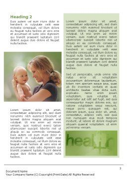 Health Word Template, Second Inner Page, 01545, Medical — PoweredTemplate.com