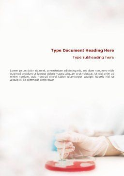 Medical Lab's Tests Word Template, Cover Page, 01546, Medical — PoweredTemplate.com