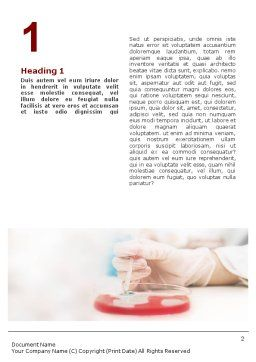 Medical Lab's Tests Word Template, First Inner Page, 01546, Medical — PoweredTemplate.com