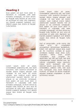 Medical Lab's Tests Word Template, Second Inner Page, 01546, Medical — PoweredTemplate.com
