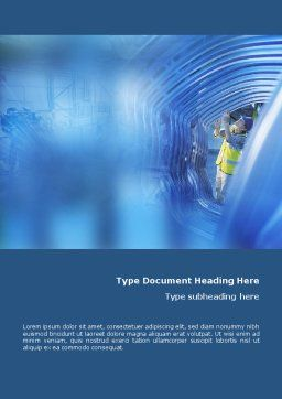 Engineering Word Template, Cover Page, 01548, Utilities/Industrial — PoweredTemplate.com