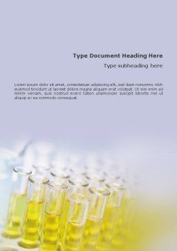 Tests Research Word Template, Cover Page, 01549, Technology, Science & Computers — PoweredTemplate.com
