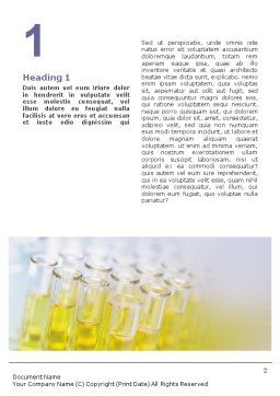 Tests Research Word Template, First Inner Page, 01549, Technology, Science & Computers — PoweredTemplate.com