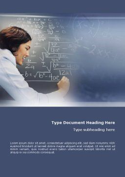 Studying Word Template, Cover Page, 01550, Education & Training — PoweredTemplate.com
