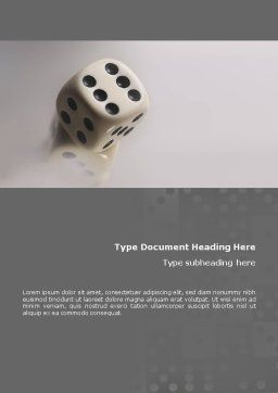 Dice Word Template, Cover Page, 01552, Business Concepts — PoweredTemplate.com
