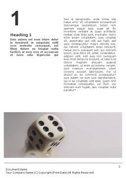 Dice Word Template, First Inner Page, 01552, Business Concepts — PoweredTemplate.com