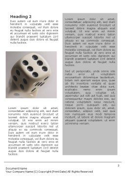 Dice Word Template, Second Inner Page, 01552, Business Concepts — PoweredTemplate.com