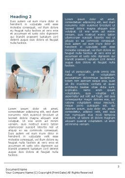 Business Relations Word Template, Second Inner Page, 01553, Business — PoweredTemplate.com