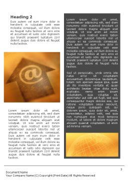 Interactive World Word Template, Second Inner Page, 01554, Telecommunication — PoweredTemplate.com