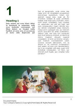 Picnic Word Template, First Inner Page, 01556, Holiday/Special Occasion — PoweredTemplate.com