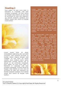 Bouquet Word Template, Second Inner Page, 01557, Nature & Environment — PoweredTemplate.com