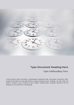 Time Checking Word Template, Cover Page, 01558, Business — PoweredTemplate.com
