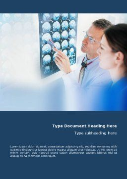 Tomography Study Word Template, Cover Page, 01560, Medical — PoweredTemplate.com