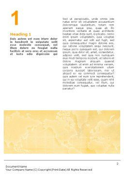 Globe On The Pastel Background Word Template First Inner Page
