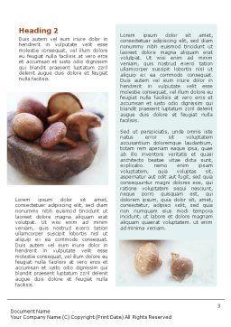 Free Mushroom Word Template, Second Inner Page, 01562, Food & Beverage — PoweredTemplate.com