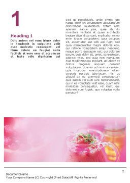 Raspberry Milk Shake Word Template, First Inner Page, 01564, Food & Beverage — PoweredTemplate.com