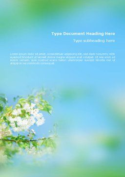Springtime Word Template, Cover Page, 01566, Nature & Environment — PoweredTemplate.com